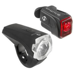 Licht Set: weißes LED 25 LUX, rotes LED, USB, wasserfest